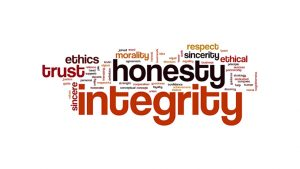 Our value are honesty, integrity, generosity