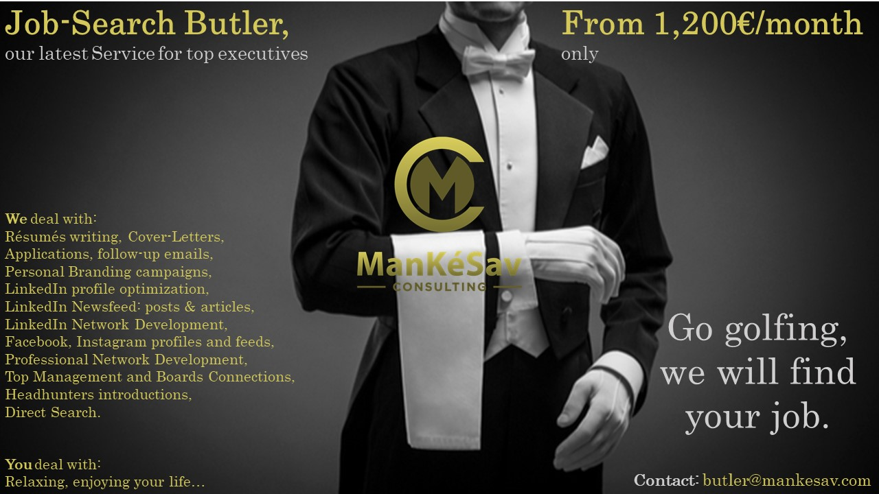 The job search butler looks for a job for you